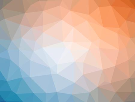 polychromatic: Orange blue gradient polygon shaped background.