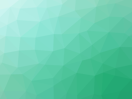 polychromatic: Green teal gradient abstract polygonal triangular background.
