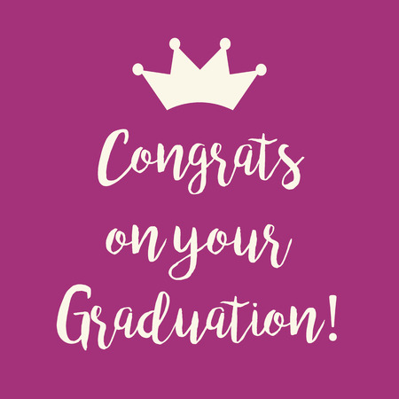 cute purple pink congrats on your graduation greeting card with