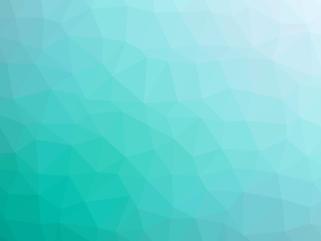 abstract: Abstract teal white gradient polygon shaped background.