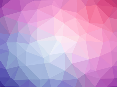 Abstract purple pink gradient low polygon shaped background.