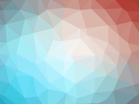 Abstract red blue gradient low polygon shaped background.