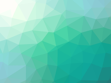 Green teal gradient abstract polygonal triangular background.