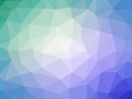Purple blue green abstract gradient polygon shaped background.