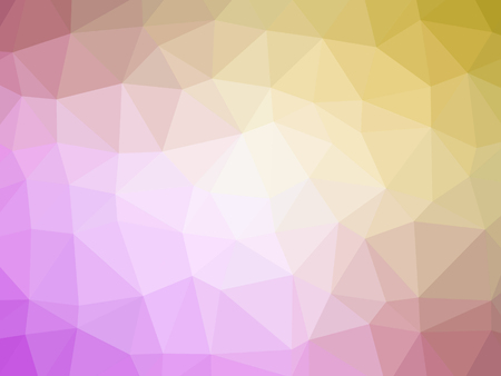 Pink yellow gradient polygon shaped background.
