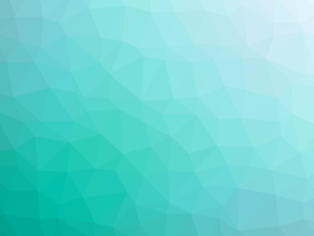 Abstract teal white gradient polygon shaped background.
