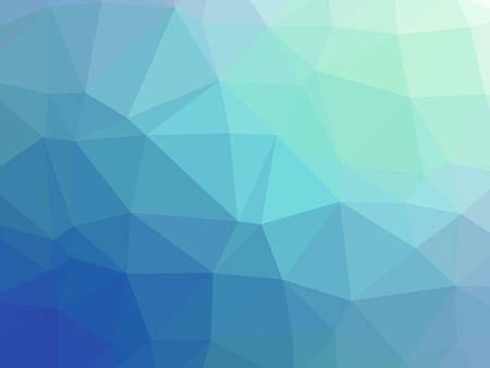 Abstract blue teal gradient polygon shaped background. Banque d'images