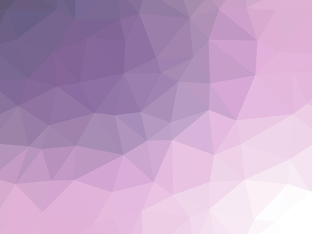 Abstract purple white gradient low polygon shaped background.