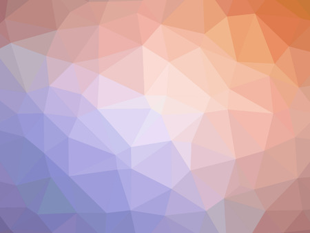 Abstract orange purple gradient polygon shaped background. Banque d'images