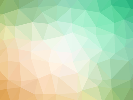 Abstract green orange gradient polygon shaped background. Banque d'images