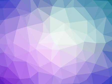 Abstract purple blue gradient polygon shaped background.