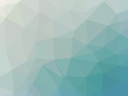 Abstract turquoise blue gradient low polygon shaped background.