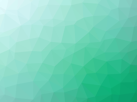 Green teal abstract gradient polygon shaped background. Banque d'images