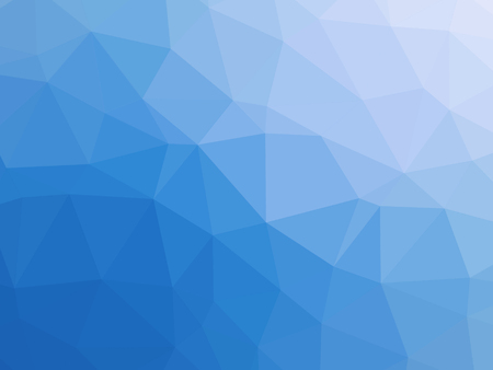 Blue white gradient abstract polygon shaped background. Banque d'images