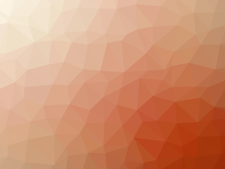 Abstract orange white gradient polygon shaped background.