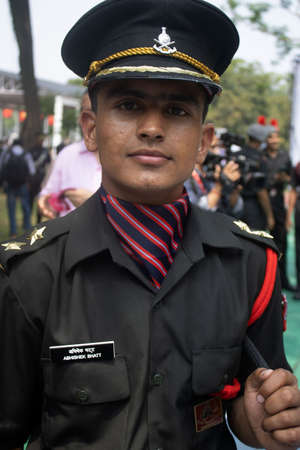Dehradun, Uttarakhand/India- August 15 2020: Young Indian Army officer