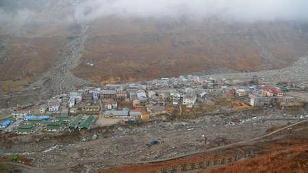 Kedarnath temple aerial view after Kedarnath Disaster 2013. Heavy loss to people & property happened. Worst Disaster.landslide, flood, cloudburst in india