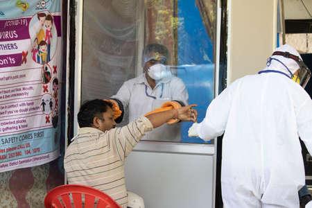 Dehradun, Uttarakhand/India - September 06 2020:A Doctor working in coronavirus situation. Editoriali