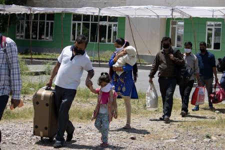 Dehradun, Uttarakhand/India - September 06 2020:Migrant returning from different states due to corona.