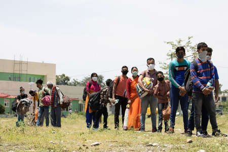 Dehradun, Uttarakhand/India - September 06 2020:Migrant people coming from difrent states due to corona pandemic. Editoriali