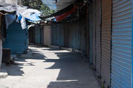 Dehradun, Uttarakhand/India - September 06 2020: Shops are closed in lock down due to corona pandemic. Editoriali