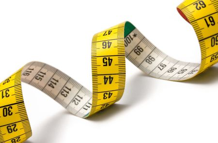 made to measure: Measuring Tape Spiral Stock Photo