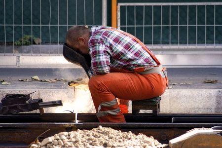 steelwork: Construction Worker Welding