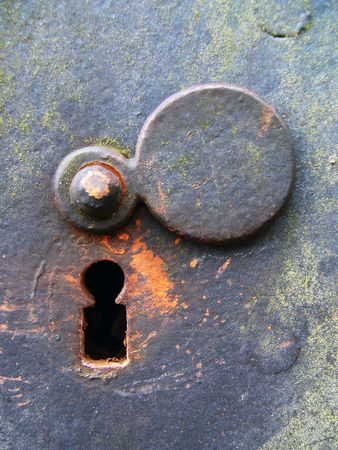 ancient prison: Weathered Keyhole