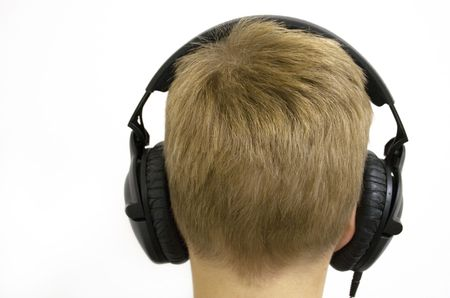 deafening: Boy with Headphones