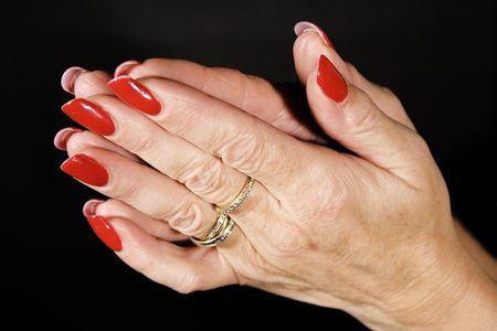 french manicure sexy woman: Praying