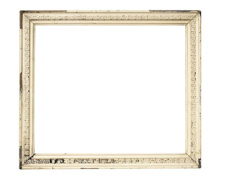 undefined: Weathered White Picture Frame w Path