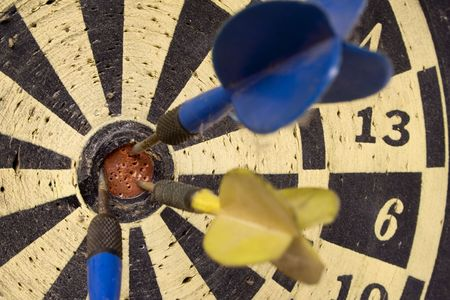 pointedly: Dartboard � Front View on Bulls Eye