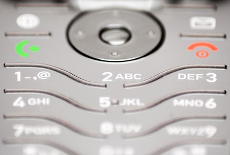 Close-Up on Cell Phone Keypad Stock Photo - 431359
