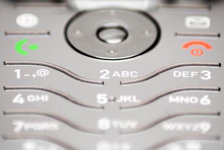 Close-Up on Cell Phone Keypad Stock Photo - 431359