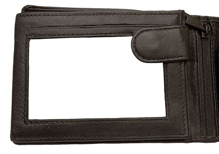 Leather Wallet Picture Frame w  Pad Stockfoto