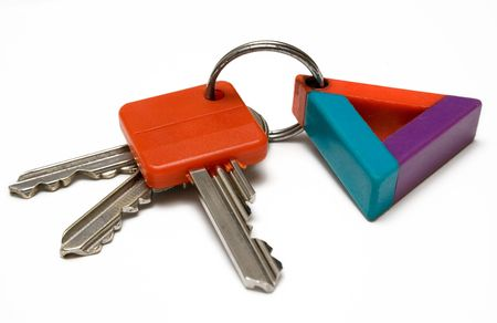 Bunch of Keys w Colorful Tag photo