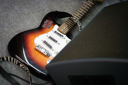Electric Guitar on Stage photo