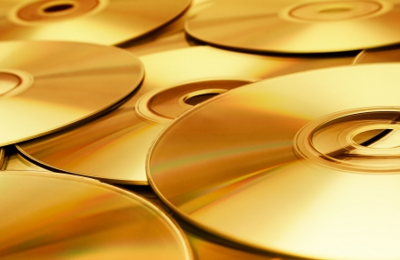 cd rom: Disc Texture (Gold)