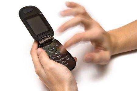 dialing: Marcar un n�mero  Foto de archivo