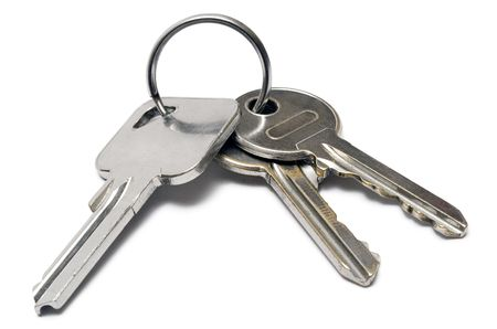 Three Apartment Keys w Ring photo
