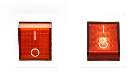 Red Power Switch - ON/OFF Stock Photo - 435853