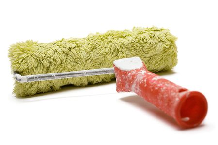 redecorating: Paint Roller Stock Photo