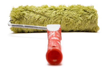 redecorating: Paint Roller (Back View) Stock Photo