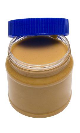 Open Glass of Peanut Butter w Path photo