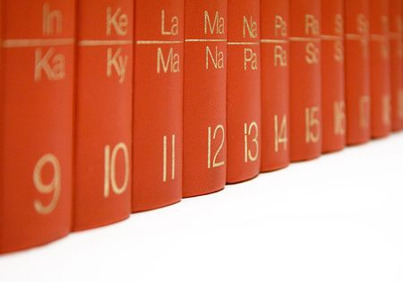Row of Red Books photo