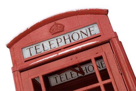 British Phone Box w Path (Close View) photo