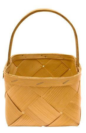 Cubic Wooden Basket w Path (Top Front View) photo