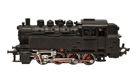 Steam Engine Model w Path (Side View) photo