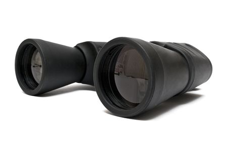 far away look: Binoculars Back - Side View Stock Photo