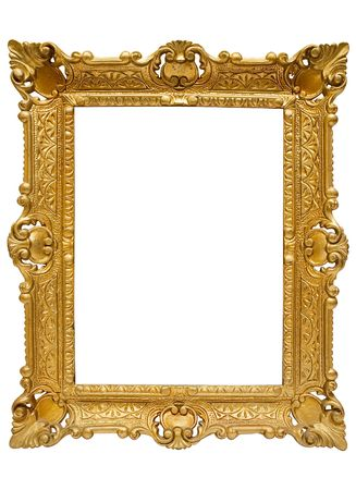 undefined: Plastic Golden Picture Frame w Path